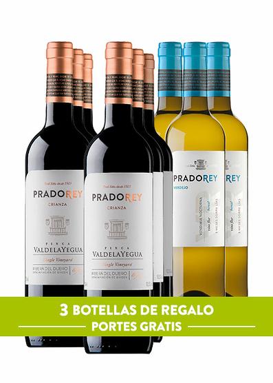 Pack Pradorey: Valdelayegua 2016 (x6) + Verdejo 2018 (x3) de oferta