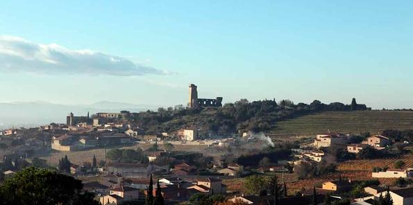 Vista panorámica Châteauneuf du Pape