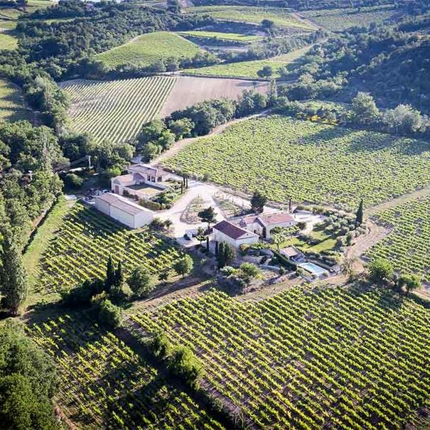 Vista aérea del Domaine La Florane